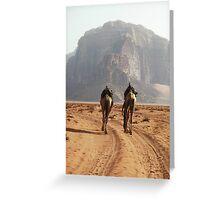 Camel Trek Wadi Rum Jordan Greeting Card