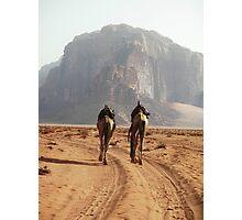 Camel Trek Wadi Rum Jordan Photographic Print