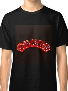 Dice isolated on black background Classic T-Shirt
