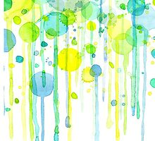 Green and yellow abstract bubbles by Nicolaiivanovic
