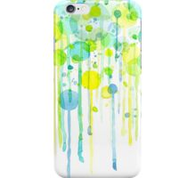 Green and yellow abstract bubbles iPhone Case/Skin