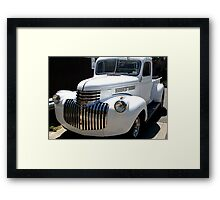 1946 old chevy truck -front full Framed Print