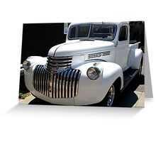 1946 old chevy truck -front full Greeting Card