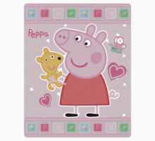 Peppa and her Ted One Piece - Short Sleeve