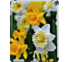 White and Yellow Daffodils in the Abstract iPad Case/Skin