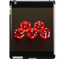 Dice isolated on black background iPad Case/Skin