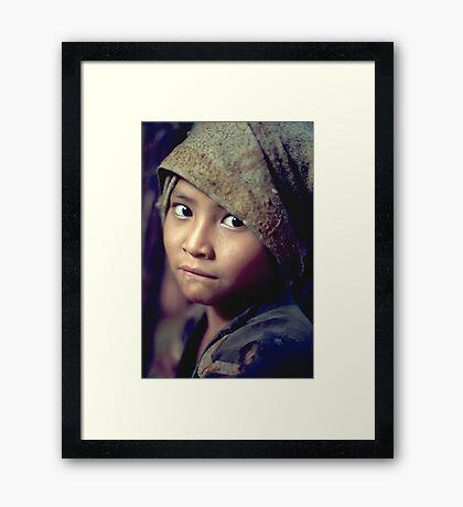 Innocent eyes Framed Print