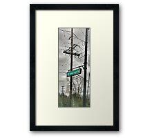 Telegraph Road Framed Print