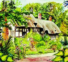 Anne Hathaway`s Cottage England by morgansartworld