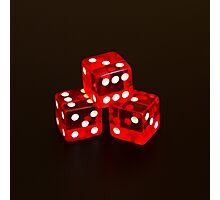 Dice isolated on black background Photographic Print