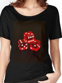 Dice isolated on black background Women's Relaxed Fit T-Shirt