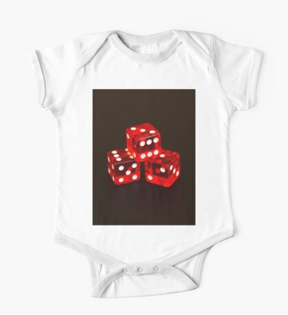 Dice isolated on black background One Piece - Short Sleeve