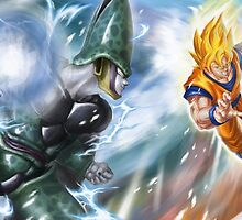 POSTER - Sangoku & Cell by artemys