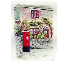 Country Village Post Box Poster