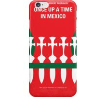No058 My once upon a time in mexico minimal movie poster iPhone Case/Skin