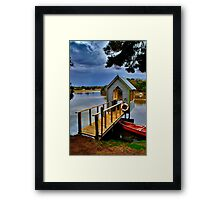 """Lunch Over The Lake"" Framed Print"