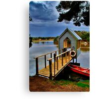 """Lunch Over The Lake"" Canvas Print"