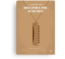 No059 My once upon a time in the west minimal movie poster Canvas Print