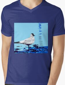 wader posterized Mens V-Neck T-Shirt