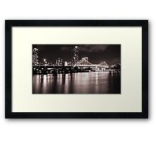 Story Bridge -Black and White Framed Print