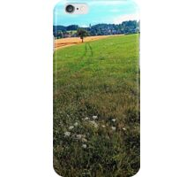 Fields, flowers and a hiking trail | landscape photography iPhone Case/Skin