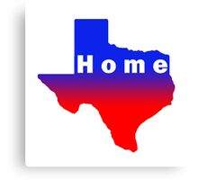Iskybibblle /Home Range / Texas Red Blue Canvas Print