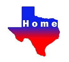 Iskybibblle /Home Range / Texas Red Blue Photographic Print