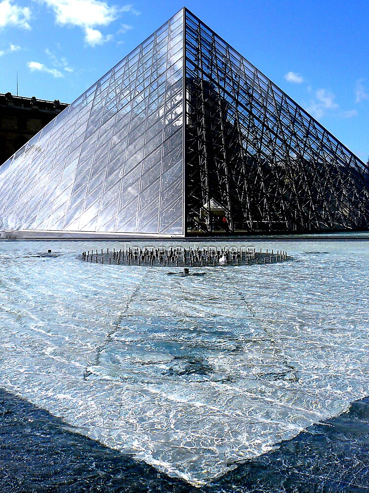 The Pei Pyramid, Musée du Louvre, Paris by Tamara Travers