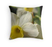 A Shiny New Mini Daffodil Throw Pillow