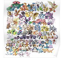 151 Pokemon Art Poster