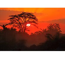 African Sunrise, Amboseli National Park, Kenya, Africa. Photographic Print