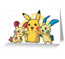 Minum, Pikachu & Plusle : Pokemon Greeting Card