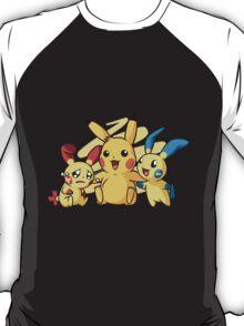 Minum, Pikachu & Plusle : Pokemon T-Shirt