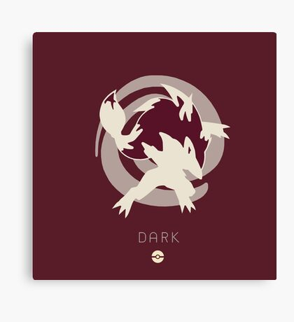 Pokemon Type - Dark Canvas Print