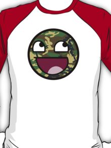 Awesome Camouflage Face T-Shirt