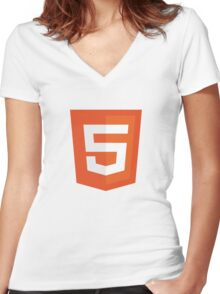 Silicon Valley - HTML5 Logo Women's Fitted V-Neck T-Shirt