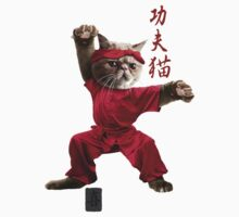 KUNG FU CAT Kids Clothes