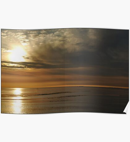 Pastel Coloured Wadden Sea Poster