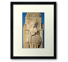 Native American Statue in Sugarhouse, Utah Framed Print