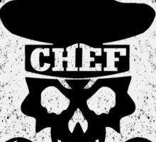 Pastry Chef Skull Logo Sticker