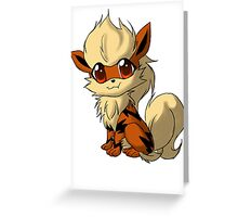 Arcanine Pokemon Design Greeting Card