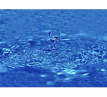 Drop of fresh water Photographic Print