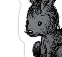 Black Bunny Sticker