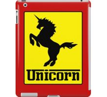 Prancing Unicorn Car Logo Parody T Shirt iPad Case/Skin