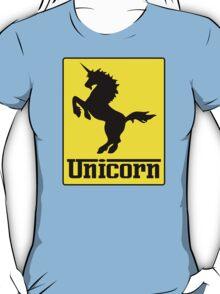 Prancing Unicorn Car Logo Parody T Shirt T-Shirt