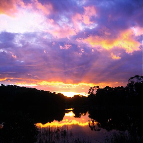 Sunset reflected by William Murray
