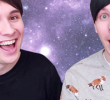 Dan and Phil- Galaxy Sticker