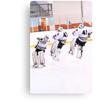 Figure Skating Goalie Canvas Print