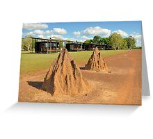 Termite Mounds Greeting Card