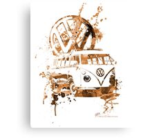 Volkswagen Kombi Splash Sepia Canvas Print